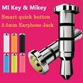 La Original Para Xiaomi Mikey Mi Tecla Inteligente botón de acceso rápido con un solo clic de botón auxilary botón gadget 3.5mm Para Auriculares Jack de polvo enchufe