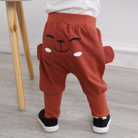 INS Autumn Cute Baby Pants Children Harem Pants Girl Boy Cute Face 3D PP Trousers Newborn
