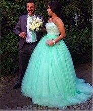 Kaftan Marocaine 2016 Vestido De Festa Curto De Luxo Mint Green Ballkleid Perlen Prinzessin Abendkleider