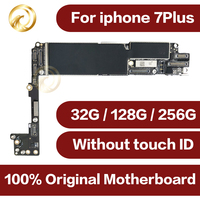For iphone7plus motherboard original 32GB 128GB unlocked 7p Mainboard for iphone7 plus IOS system NO touch ID mobile phone