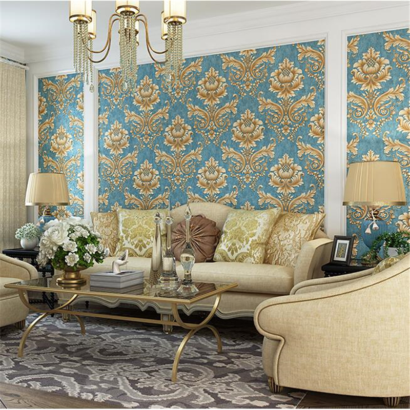 beibehang Nonwovens Wallpapers European Living Room Luxury Bedroom 3d TV Background Wallpaper Fine Pressure Papel de parede 3d beibehang european nonwovens wallpaper bedroom living room tv background wallpapers 3d relief three dimensional wallpaper