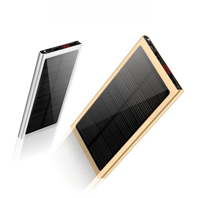 Yoteen 10000 mah bateria solar banco de energia solar do carregador do telefone portátil powerbank para iphone 6 s 7 banco de alimentação externa de energia móvel