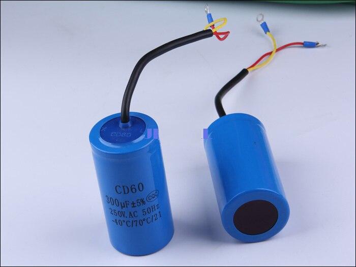 free shipping Staring capacitor CD60 300UF heavy duty electric motor starting capacitors staring capacitor cd60 100uf 250v ac 50 60hz 40 70 temperature 21