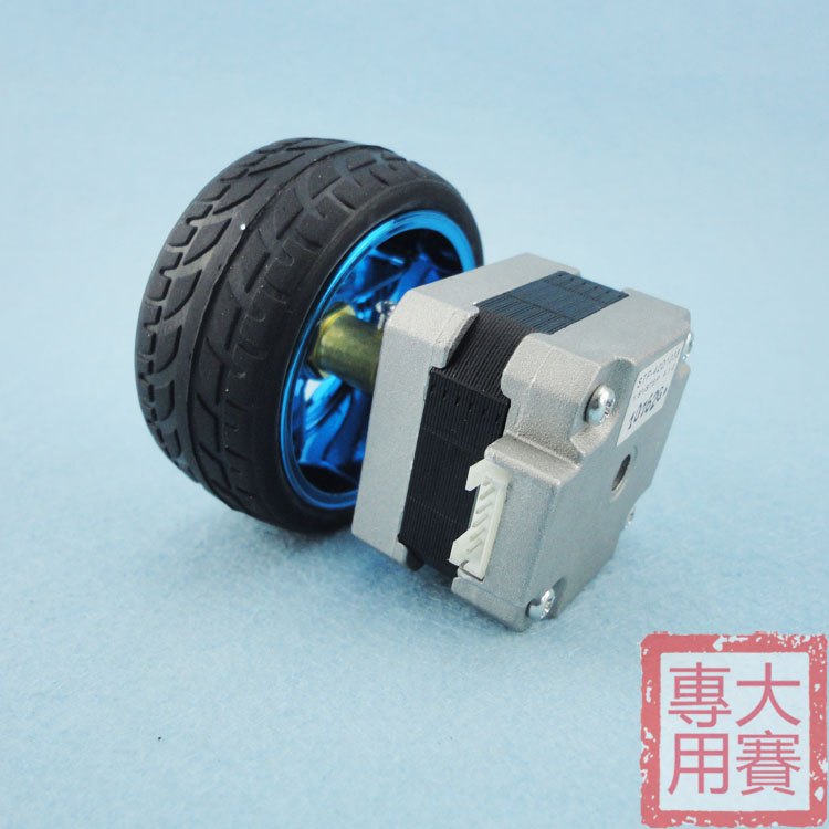 42 stepper motor coupling wheel intelligent car two four-wheel drive tricycle six drive balancing car tire Kit toothed belt drive motorized stepper motor precision guide rail manufacturer guideway
