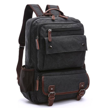 Unisex Vintage Backpack Men Travel Bags Canvas Bag Mochila M