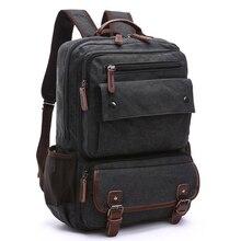 Unissex sacos de viagem dos homens do vintage mochila bolsa de lona masculina mochilas para as mulheres mochila escolar para adolescente volta pacote