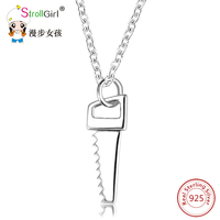 925 Sterling Silver Saws Tool Jewelry Accessories Necklace Gift Silver Handmade Saws Jewelry Pendants Necklaces For