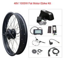 Electric Bike Kit 1000w Fat tire Motor Wheel 48V 12A SAM/16A LG E Bike Kit Electric Bicycle Conversion Kit for Rear Hub Motor цена и фото