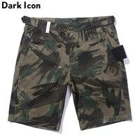Front Button Camouflage Shorts Men 2017 Summer Unique Design Leave Camo Men S Shorts Hip Hop