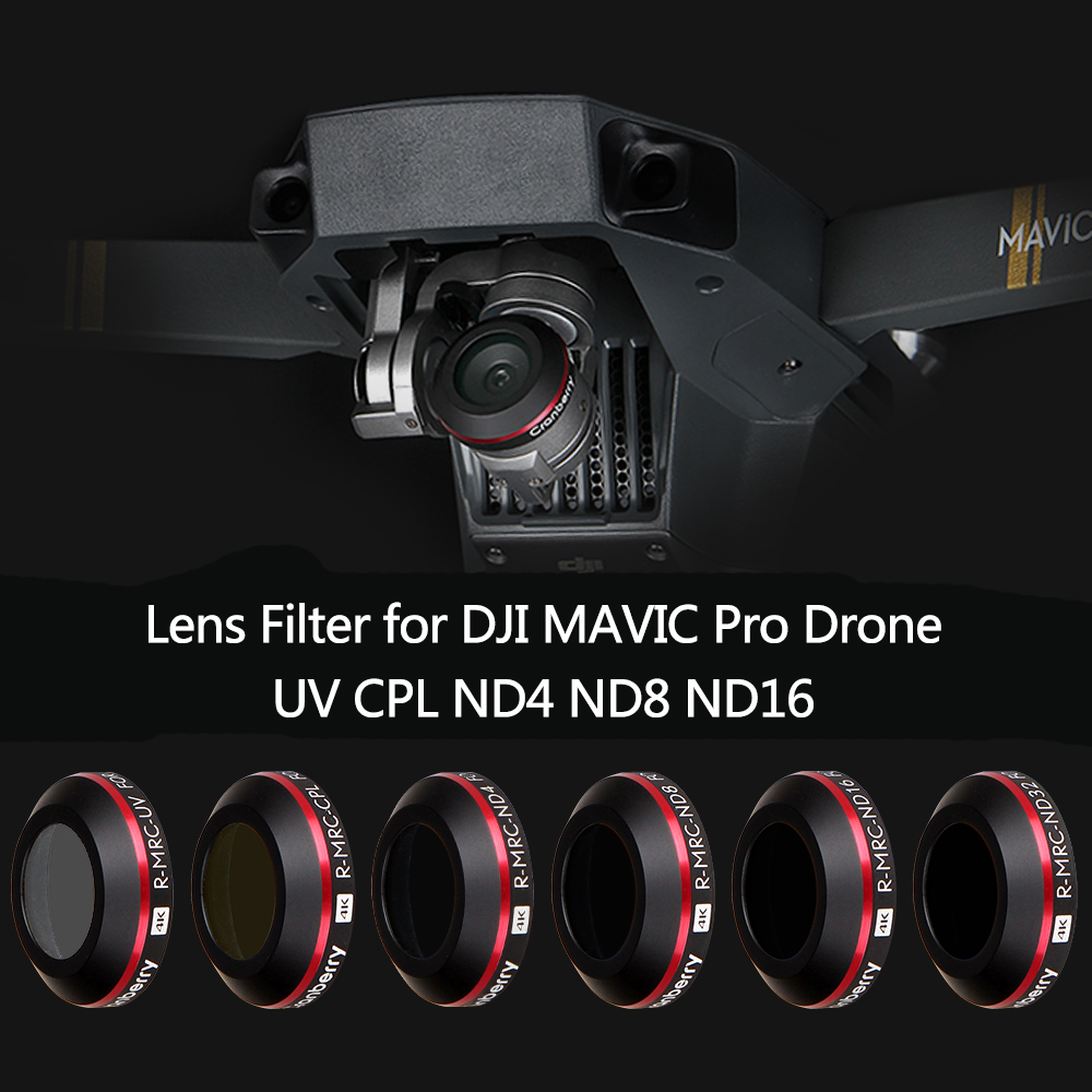 Super Light UV ND4 ND8 ND16 CPL Lens Filter for DJI Mavic Pro Platinum Camera Drone Filter Polarizing Neutral Density Filter