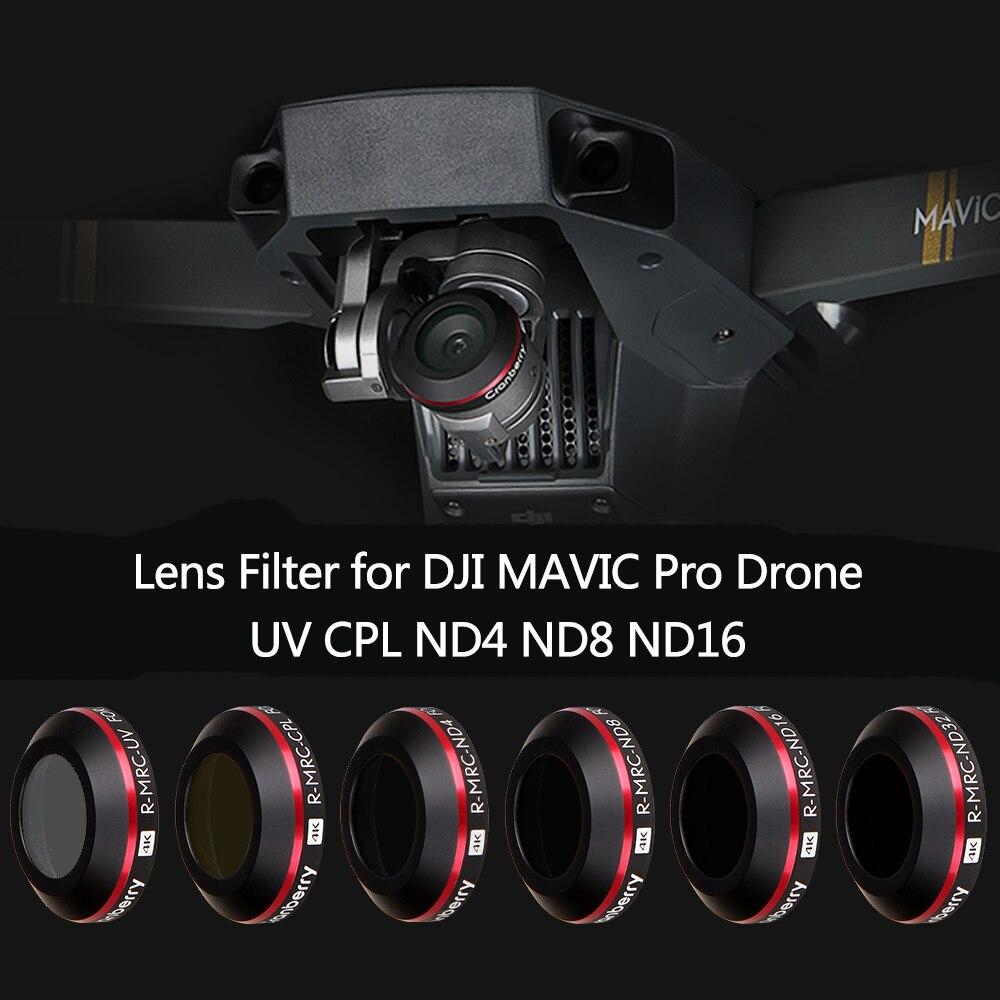 Super luz UV ND4 ND8 ND16 CPL filtro de la lente para DJI Mavic Pro Platinum Drone con cámara filtro polarizante filtro de densidad neutra