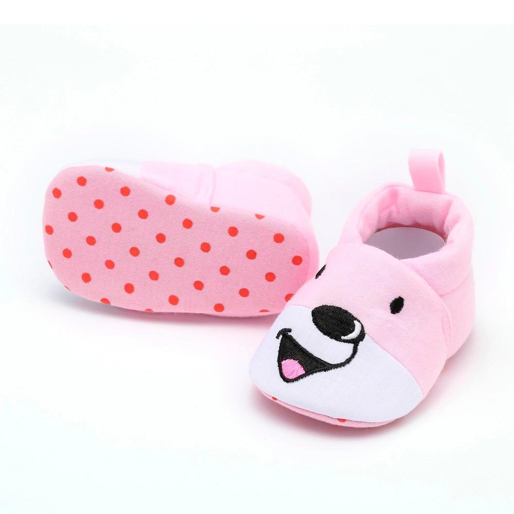 Newborn Toddler Shoes ToddlerBabyGirls BoysCartton Indoor Solid Soft SoleCasualShoes Bebek Ayakkabısı1.724