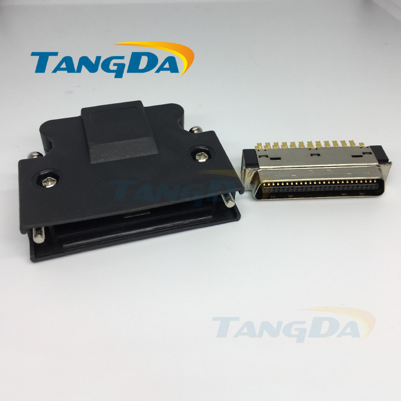 Tangda Servo connector SCSI HPCN servo driver gold-plated male head Connect 50p 50pin 50 core A. us au standard touch wall switch 1 gang with crystal tempered glass panel and blue led backlight
