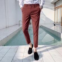 Костюм брюки мужские офисные брюки для мужчин платье брюки длина голеностопного сустава Social Parfum Homme обтягивающий официальный брюки одежда