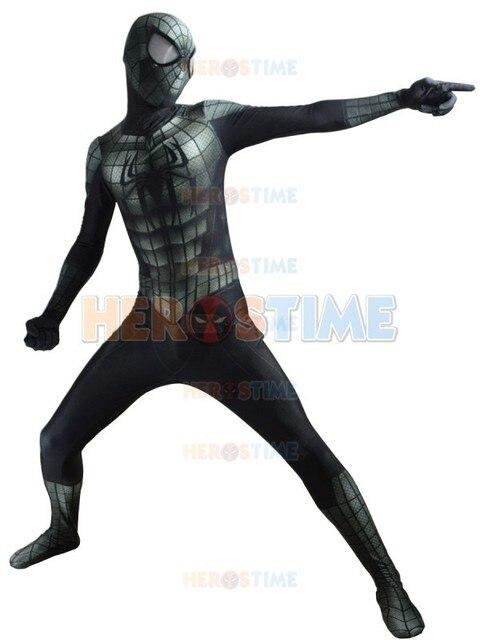 559881f4eca83 Nuevo disfraz de Spiderman negro Lycra 3D estampado Venom Symbiote blindado  Spider-Man Zentai traje