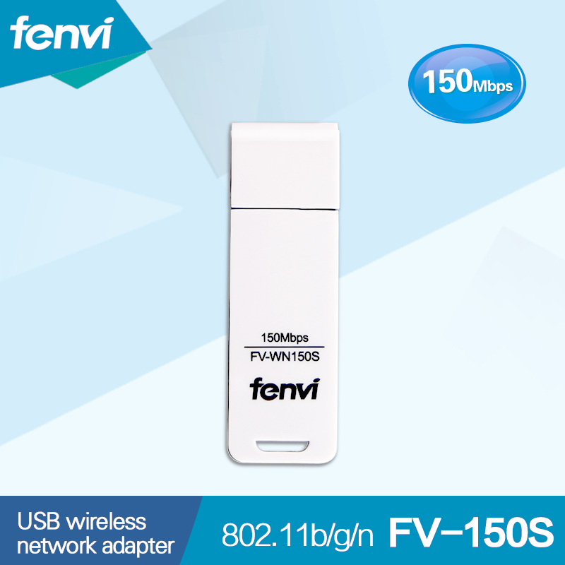 Mini 150Mbps USB Wifi Fenvi FV-WN150S RT3070L Trådløst netværk WLan Card USB2.0 Lan Dongle-adapter til stationær pc-bærbar computer