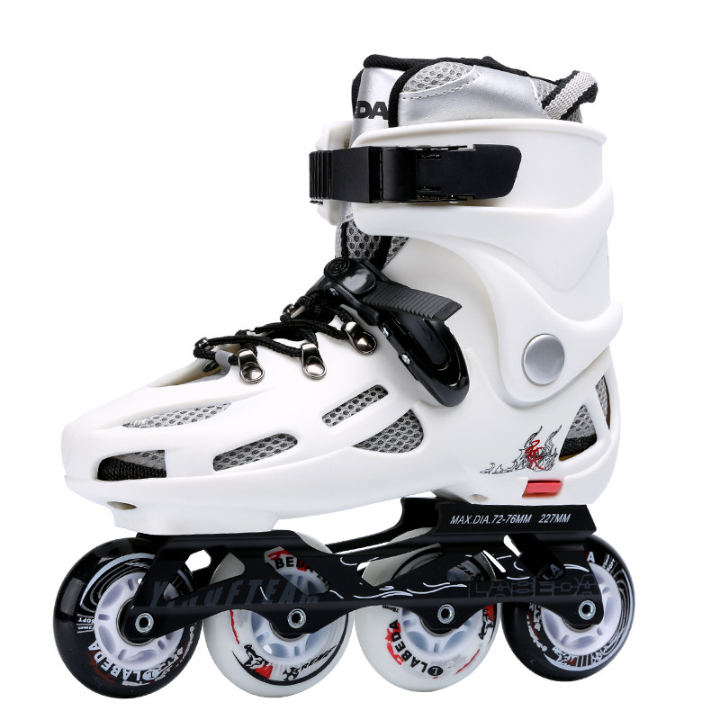 Size 36-43 Quality roller skate shoes with white or black color and removable inner tank ...