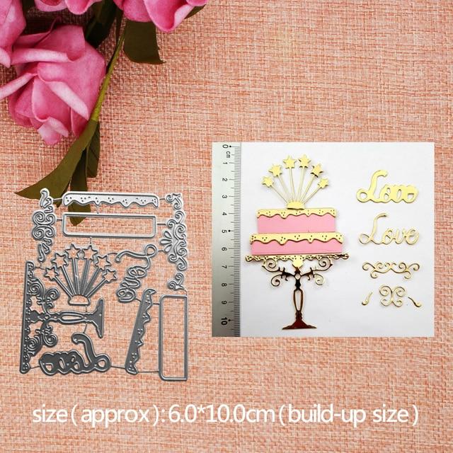 Magnificent Big Offer 1Om6E Metal Cutting Dies Cut Birthday Cake Wedding Funny Birthday Cards Online Benoljebrpdamsfinfo