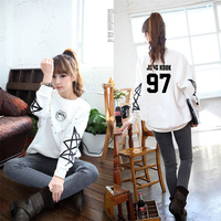 Bangtan Boys Bts White Sweatshirt Kpop K Pop Harajuku Feminine Autumn Long Winter Sportswear For Women