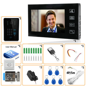 "Image 5 - Touch Key 7"" Video Door Phone Video Intercom System 1 Monitors + RFID Password Access Night vision Doorbell Camera+Electric Lock"