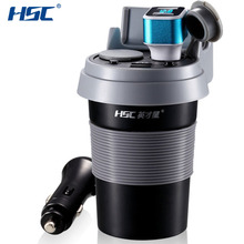 HSC HSC-500 Newest Car Charger 12-24V 3.1A Output Dual USB Car Charger Car Coffee Cup Holder Car Cigarette Lighter Drop Shipping