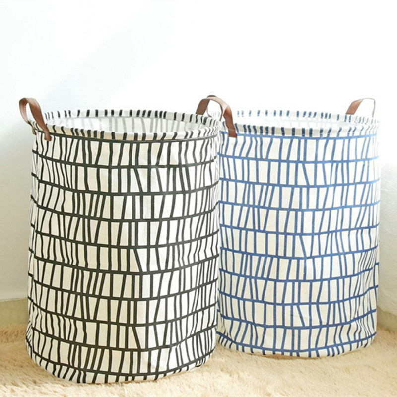 Bucket Dirty Clothes Barrel Kitchen Wardrobe Fabric Large Storage Baskets For Toys Containers Organization Laundry Basket Box In From Home