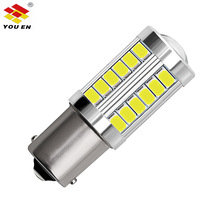 YOUEN P21W 33 SMD 5630 LED 1156 BA15S 8000K Auto Brake Light Fog Lamp Car Daytime Running Light Stop Bulbs 12V 2.76W цена и фото