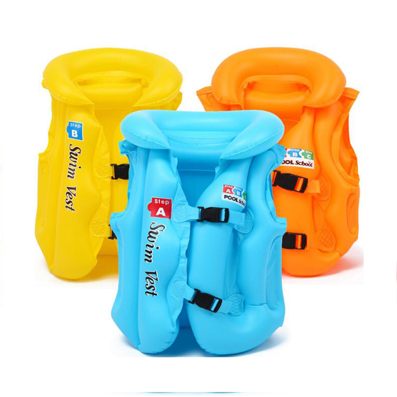 Baby Adjustable Life Jacket Float Vest Child Kids High Quality Inflatable Swimming Vest For 10-50KG Swimming Pool Accessories