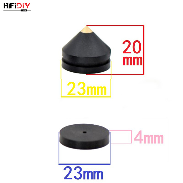 HIFIDIY LIVE 4PCS 4Sets speaker Stand Feet Foot Pad aluminium alloy metal (NOT natural wood ) Spikes Cone Floor Foot Nail M23*20 3