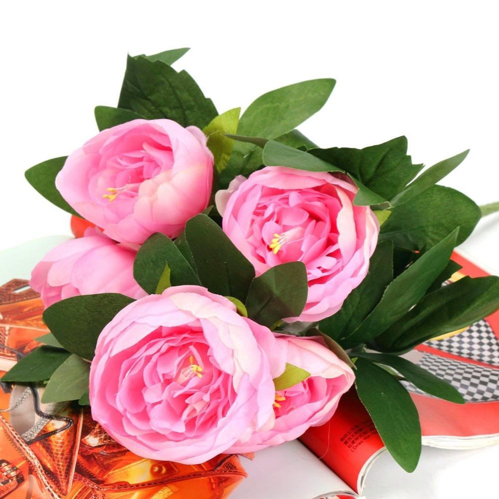 Popular pink peonies silk buy cheap pink peonies silk lots from pink peonies silk dhlflorist Images