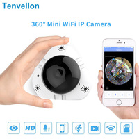 Tenvellon 360 Camera IP Wifi 960P Fisheye Home Security CCTV Cameras Panoramic surveillance wireless network camara de seguridad