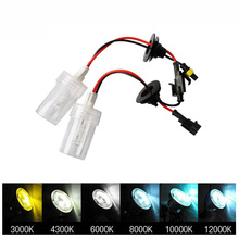 2pcs headlight lamp hid xenon H7 75W 12V H1 H3 H8 H9 H11 3000k 6000k 8000k 10000k Car Light Source bulb kit car styling