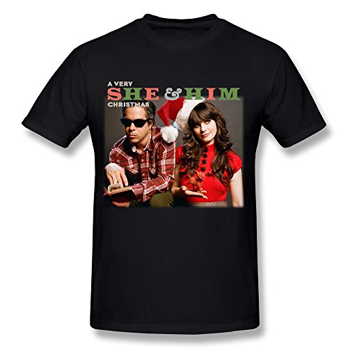 Мужской best продаж Футболка короткий рукав печатная машина О-образным вырезом мужские очень она и его рождественские футболки