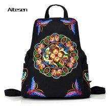 2016 Известный Бренд рюкзак вышивка женщин возможности отдыха плечо сумка многофункциональный рюкзак рюкзак
