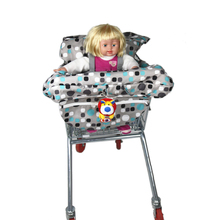 baby shopping cart safety cover multifunction children folding red dot /blue dot shopping cart cover for baby clean chair seat