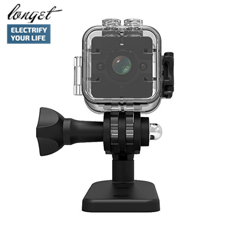 цена на LONGET SQ12 HD 1080P Waterproof Mini Camera Video Recorder Digital Sports Camera Night Vision Wide-Angle Camcorder VS SQ11 SQ9