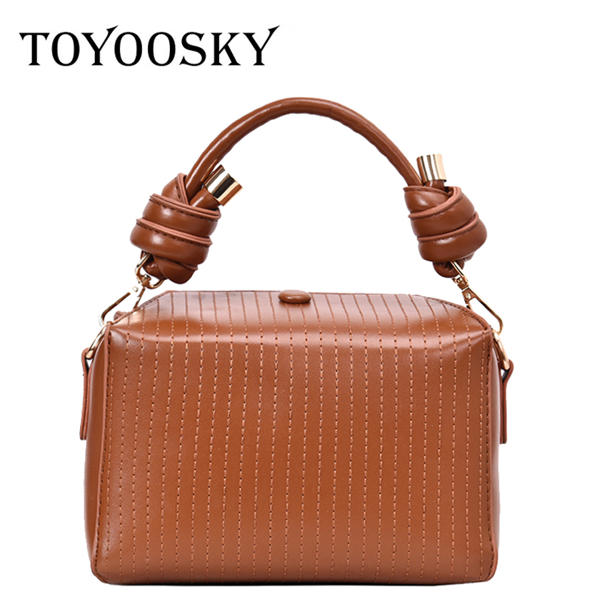 TOYOOSKY Fashion Women Handbags PU Leather Thread Totes Bag Top-handle Crossbody Bag Shoulder Bag Lady Simple Style Hand BagsTOYOOSKY Fashion Women Handbags PU Leather Thread Totes Bag Top-handle Crossbody Bag Shoulder Bag Lady Simple Style Hand Bags