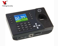 YobangSecurity Biometric Fingerprint Employee Attendance Machine 2.4Inch TFT USB Fingerprint Scanner ID Card Time Clocker TCP/IP