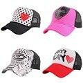 Дешевые продвижение женщин моды для мужчин летние виды спорта бейсболка черный mesh прохладный открытый мальчик девочка длинный козырек snapback шляпы вс шляпа