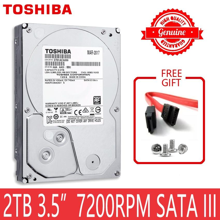 "Toshiba 2 tb disco rígido 2000 gb 2 tb interno hd hdd disco rígido 7200 rpm 64 m cache 3.5 ""35 sata iii para desktop computador"