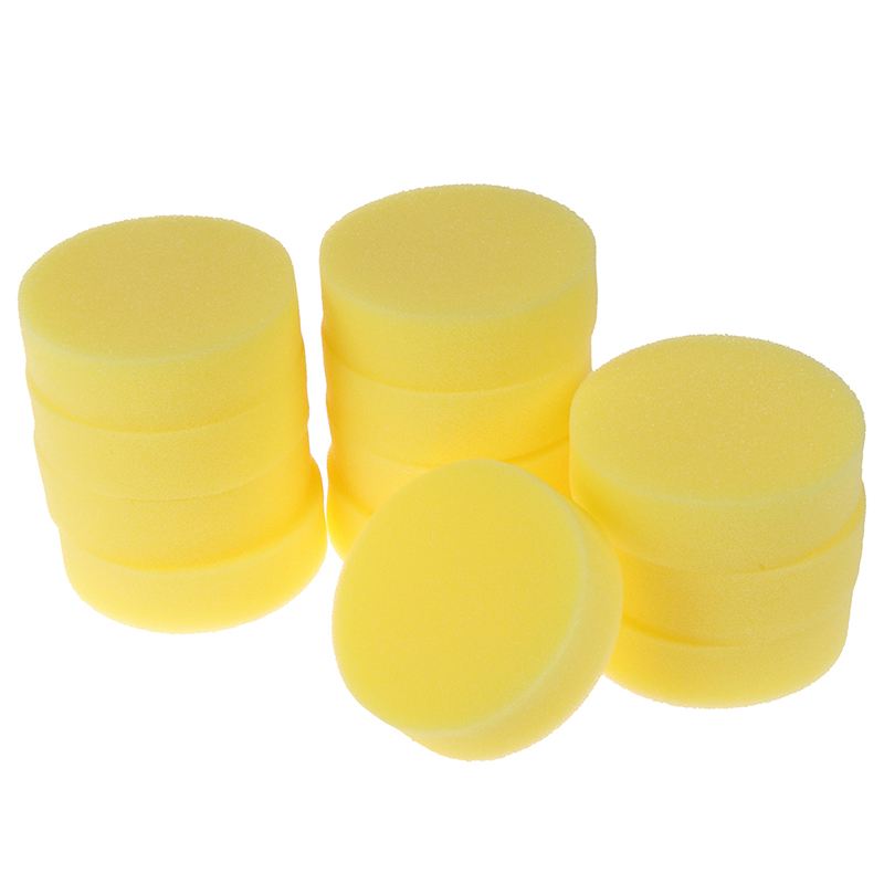 12Pcs/Lot Car Polishing Waxing Sponge Pad Tool Easy To Scrub Cleaning Tool Wax Purifying Vehicle Foam Clean Parts