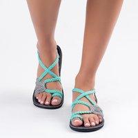 WENYUJH; женские пляжные сандалии; дышащие шлепанцы; Вьетнамки; вязаные летние сандалии с перекрестным носком; коллекция 2019 года