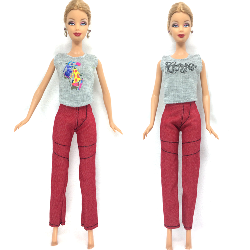 NK 2017 Newest Dolloutift  Beautiful Handmade Party Clothes Top Fashion Dress For Barbie Noble Doll Best Child Girls'Gift 014A