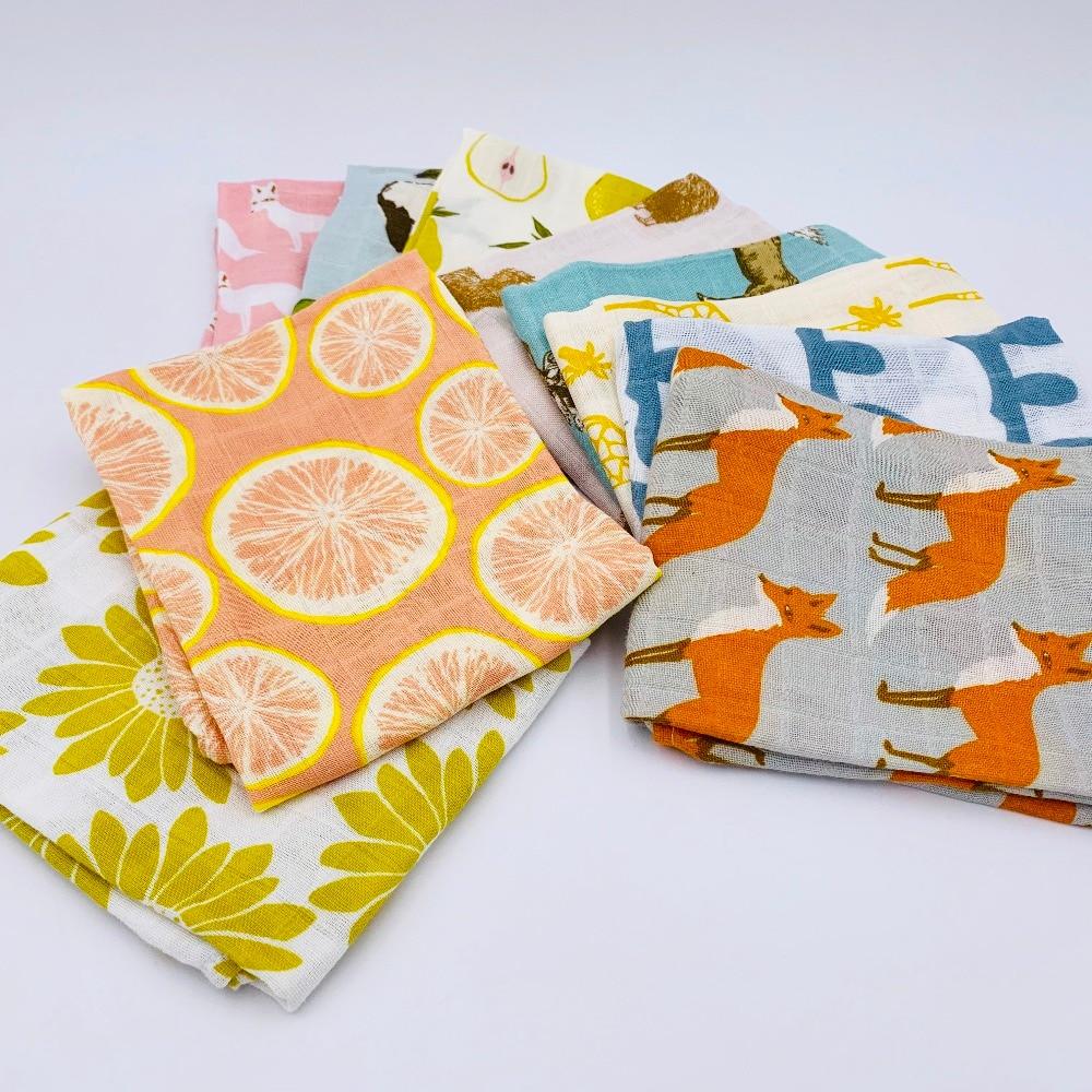 100% Organic Cotton Baby Blanket Muslin Cotton Bathing Towel Multifunction Baby Nursing Cover Bedding Wrap Bundle Of Burp Cloth