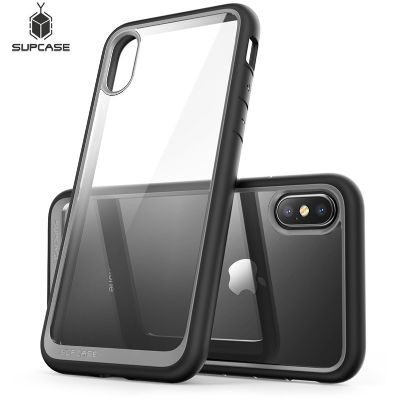 For Iphone X XS Case SUPCASE UB Style Premium Hybrid Protective TPU Bumper + PC Clear Back Cover Case For Iphone X Xs 5.8 Inch