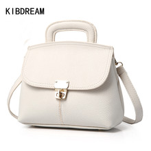 KIBDREAM 2016 Mode Weibliche Pu-leder Handtaschen Frauen Messenger Bags Luxus Designer Marken Haspe Einkaufstasche frauen Umhängetaschen