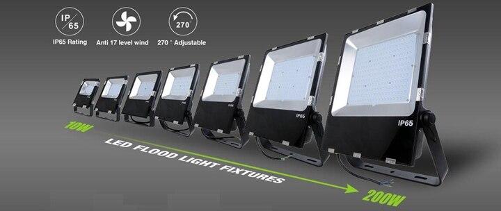 Outdoor Led Spotlight 200w 5 Years Warranty Ra80 120v 230v 277v White 6500k 5000k 4000k Free Shipping 200 Watts Spot Lights In Floodlights From