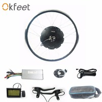 Okfeet 48V 1000W non gear rotate hub motor electric bicycle kit with LCD5 function high Quality CE certification speed limited