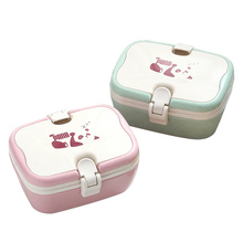 1000ml School Lunch Box For Kids Japanese Bento Boxes Wheat Straw Box For Food Meal Prep LunchBox Containers With Compartments