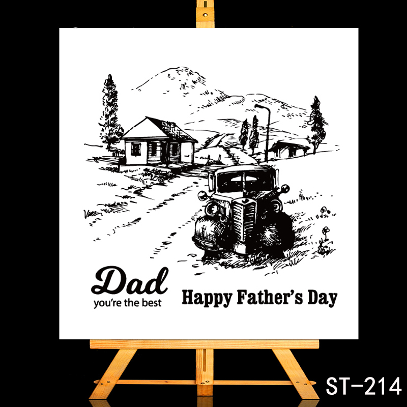 ZhuoAng Dear father/Happy Fathers Day Transparent and Clear Stamp DIY Scrapbooking Album Card Making Decoration